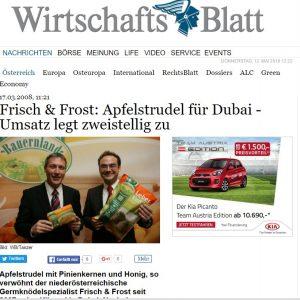 Umsatzwachstum Wirtschaftsblatt Gerfried Pichler Peter Harrer 2008